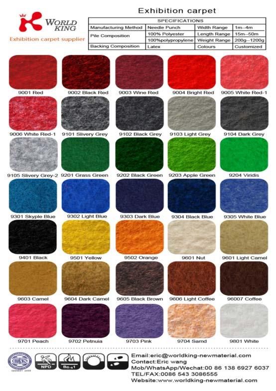 Film-Coated Exhibition Carpet